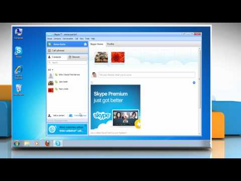 How to start a group call or a group chat in Skype®
