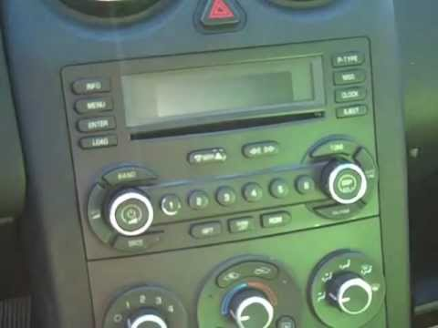 How to Pontiac G6 Car Bose Stereo radio cd   Removal 2005 - 2009 replace repair