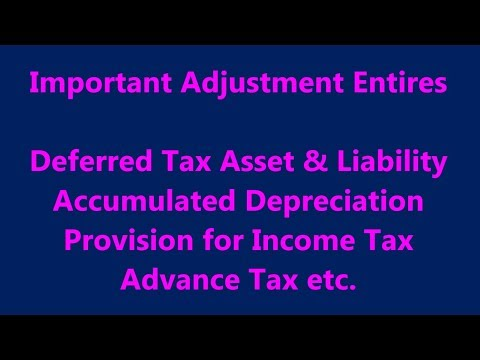 Important Income Tax Adjusting Entries | Year End Adjustment Entries