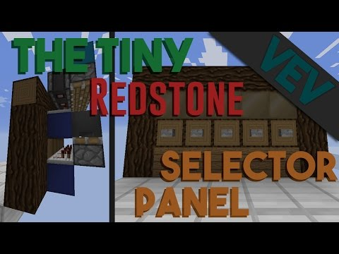 The Tiniest Flat Redstone Selector Panel