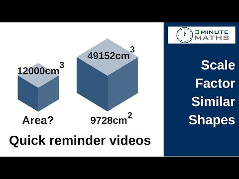 How to work with scale factor - area of mathematically similar shapes