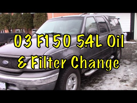 How To Change Oil And Filter On 03 f150 lariat 4X4
