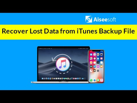 How to Recover Lost Data from iTunes Backup File