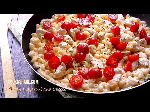 Chicken Macaroni Salad with Cheese