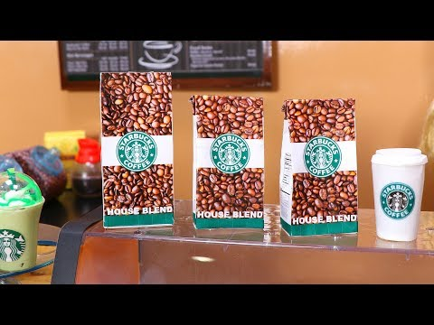 DIY American Girl Doll Starbucks Coffee