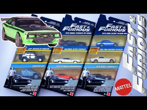 Opening: FAST & FURIOUS 3-Packs with EXCLUSIVE Cars! Mattel Die-Cast Car Sets