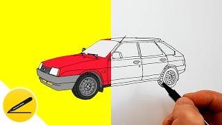 Как рисовать машину. В этом видео я показываю как нарисовать автомобиль Лада ВАЗ-2109. Я рисую машину поэтапно, шаг за шагом. Такой рисунок может сделать каждый из вас своими руками. Приятного просмотра и успехов в творчестве!  Чтобы у вас получился хороший рисунок, в первый раз просмотрите всё видео полностью, а во второй - после каждого штриха ставьте на паузу и старайтесь повторить за мной.  ❤ Подписаться на канал Mirage4You: https://www.youtube.com/channel/UCVdCGKtasz5_FAd_Hi2pG0w?sub_confirmation=1  ★ Как Нарисовать (все видео): https://www.youtube.com/channel/UCVdCGKtasz5_FAd_Hi2pG0w/videos  Музыка: YouTube Audio Library (https://www.youtube.com/audiolibrary/music)
