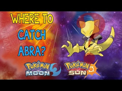 WHERE'S ABRA?!?!? Pokemon Sun and Moon! - Where to Catch Abra! Early game!