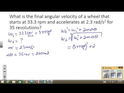 Rotational Motion Problem 3