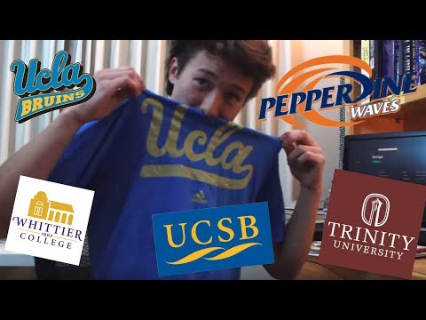 College Decision Reaction 2017 - UCLA Film + UCSB + Pepperdine + Whittier + Trinity University