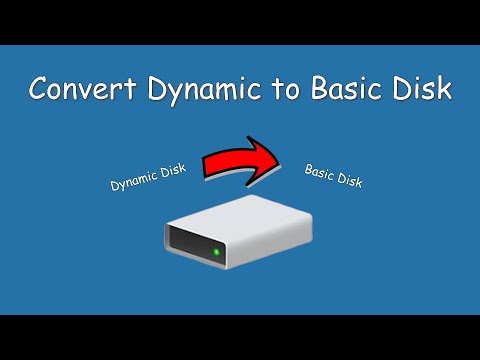 How to convert dynamic disk to basic disk in Win 8