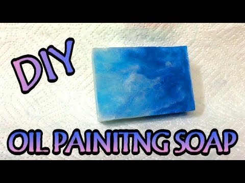 DIY HOW TO BLOOM MICAS AND MAKE OIL PAINTING SOAP