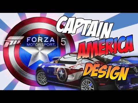 [ Forza 5 ] Custom Paint Job - Captain America Car