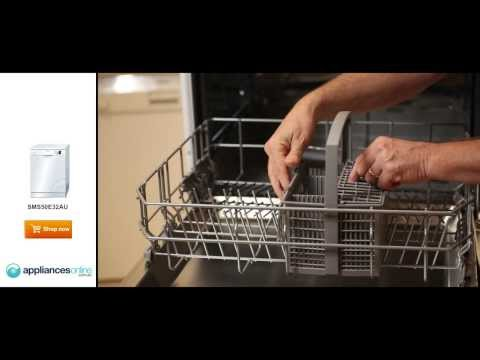 Review of the popular and efficient Bosch SMS50E32AU dishwasher - Appliances Online