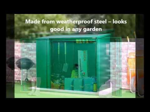 High security metal garden shed