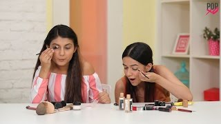 Komal & Cherry Take On The Opposite Hand Makeup Challenge - POPxo
