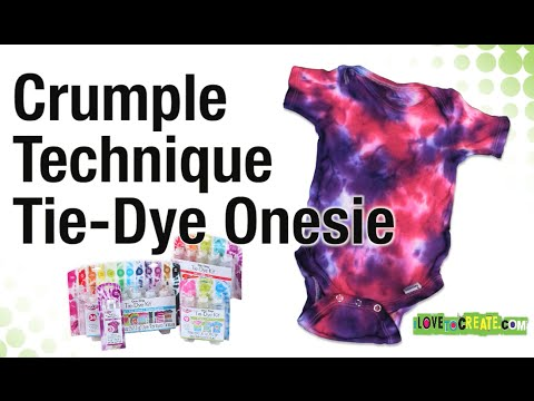 How to Crumple Tie Dye Onesie