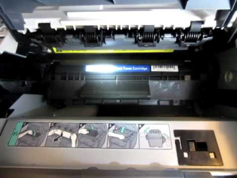 how to install Canon 104 toner cartridge into imageclass 4350d laserprinter