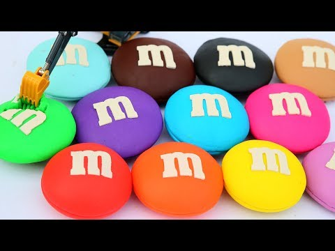 Learn Colors With Rainbow Clay Doh M&M Chocolate Candy Kinetic Sand How To Make For Kids