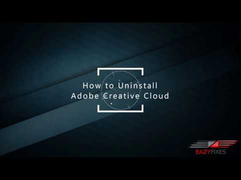 Adobe Creative Cloud Uninstallation (Force Removal)