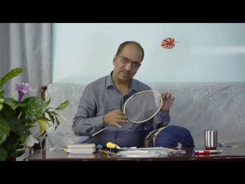 Converting a headlight badminton racket into headheavy/Hindi