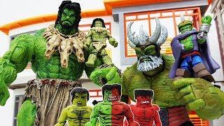 Dinosaur is Coming! Avengers Minimates Red, Grey, Compound Hulk Army! Go~! Iron Man, Spider-Man