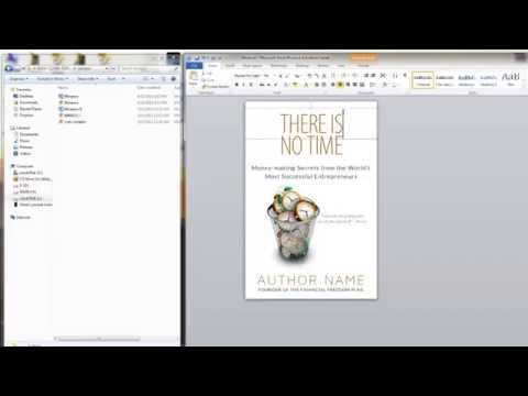 How to make a book cover with MS Word
