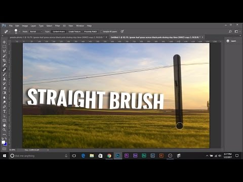 Draw Straight Line with Any Brush in Photoshop