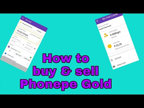How to buy and sell Phonepe gold