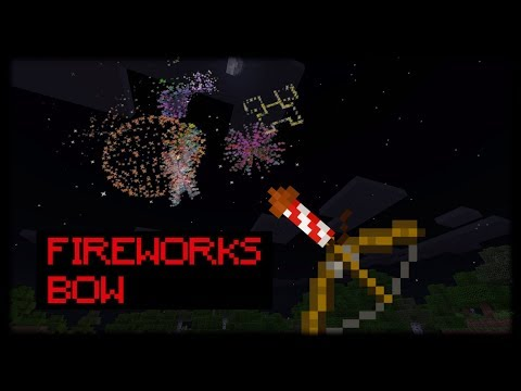 Minecraft PE | How to Make Working Fireworks Bow (No Mods Or Addons)