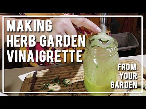 Making Herb Garden Vinaigrette
