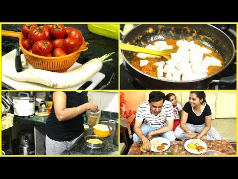 Indian Mom Monday Dinner Routine - Making Dinner after Super Tiring day