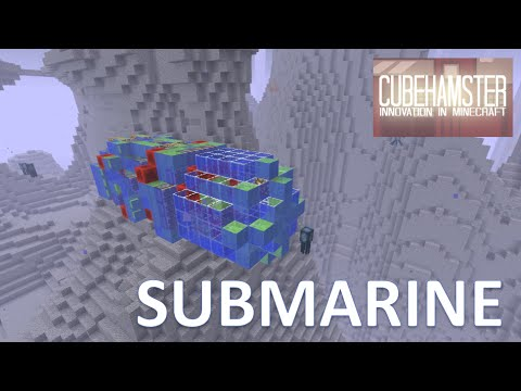 Minecraft Slimeblock Submarine with Controls [No Mods]