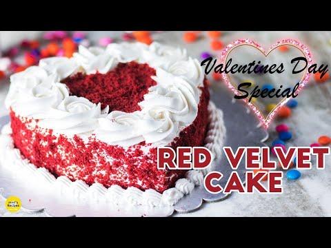 Red Velvet Cake in Pressure Cooker | Valentine's Day Special Cake Recipe | Mints Recipes