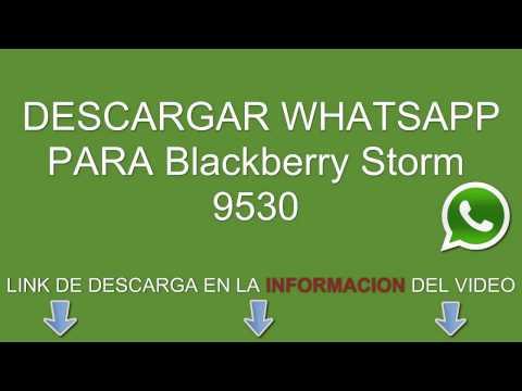 Descargar e instalar whatsapp para Blackberry Storm 9530 gratis