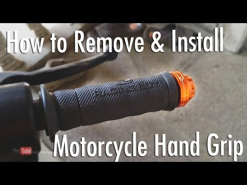 How to Remove & Install Motorcycle (RacingBoy) Hand Grip [Tagalog]