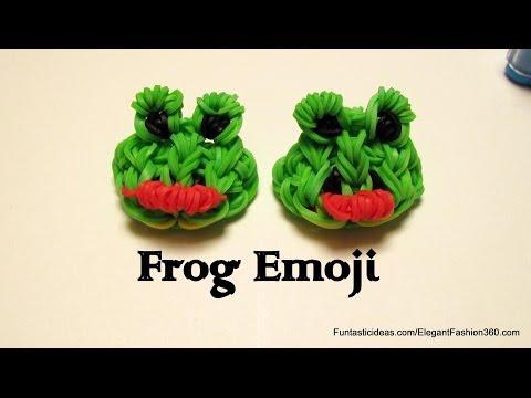 Rainbow Loom Frog Emoji/Emoticon charm - How to