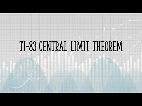 TI 83 Central Limit Theorem Examples