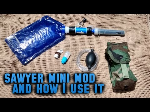 How I use the Sawyer Mini Water Filter & DIY Carbon Filter Adapter Mod for best performance/results