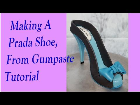 Making A Prada Shoe From Gumpaste Tutorial