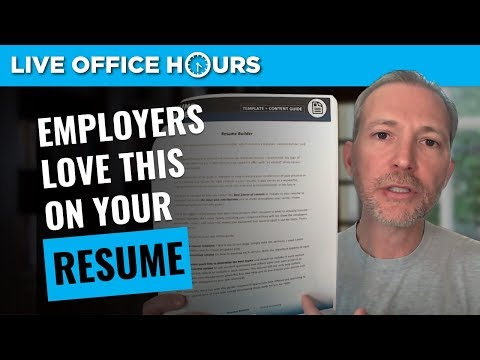 What Employers Look for in a Resume: Live Office Hours: Andrew LaCivita
