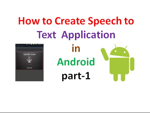 Android Application Development tutorial:Voice to Text part-1 | ShoutCafe.com