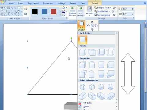 How to add 3D effects to shapes in Word 2007