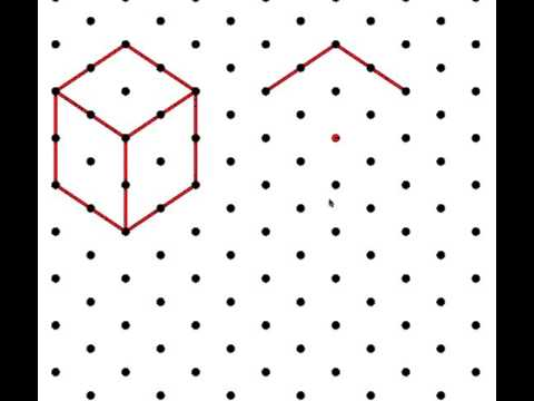 How to Draw a cube on an Isometric grid