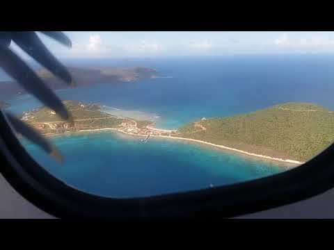 Liat Airline Taking off the Beautiful Island of Tortola, BVI