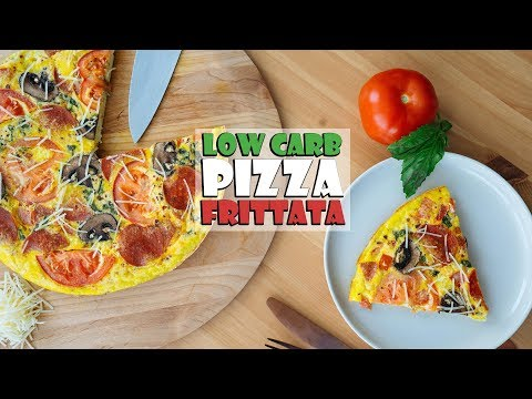 Low Carb Pizza Frittata | Great for Meal Prep!