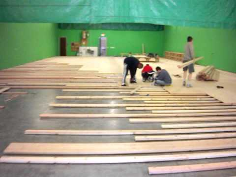 Building the floor -- Arizona Badminton Center