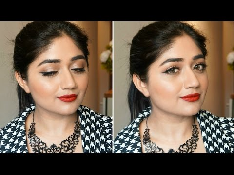 Red lips with Winged Eye Liner | Makeup Tutorial | corallista