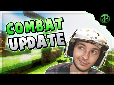 Minecraft COMBAT UPDATE... REVERTS PvP Back to 1.8 Style? ( Hypixel Skywars )