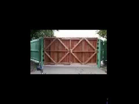 DOUBLE  WOOD GATE  DOORS
